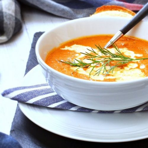 Tomato, Carrot & Dill Soup