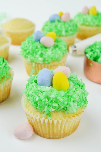 Easter Egg Hunt Coconut Cupcake Recipe