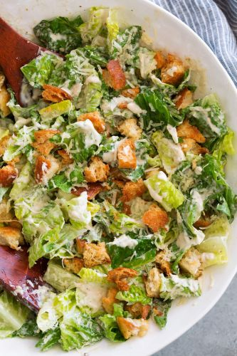 Caesar Salad Recipe with Homemade Caesar Salad Dressing