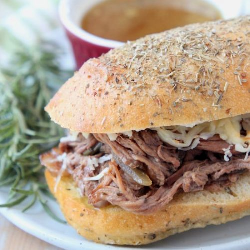 Slow Cooker Tri Tip French Dip