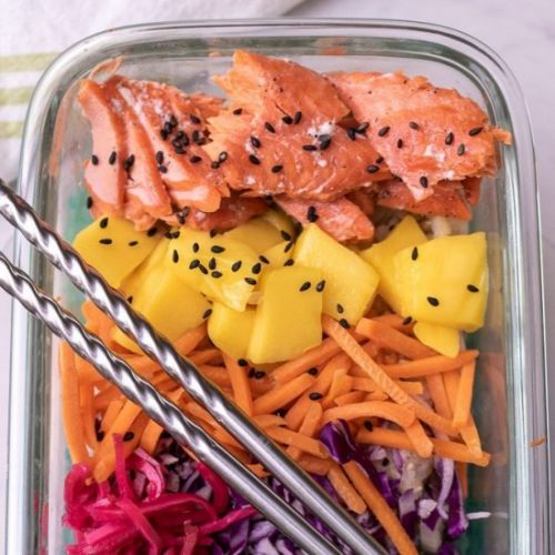 Salmon Poke Bowl Meal Prep