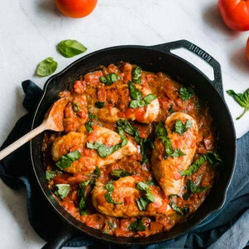 Garlic Butter Tomato Sauce Chicken