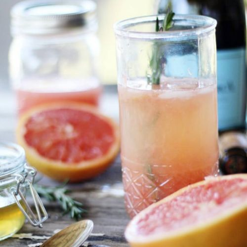 Ruby Rosemary Prosecco Cocktail