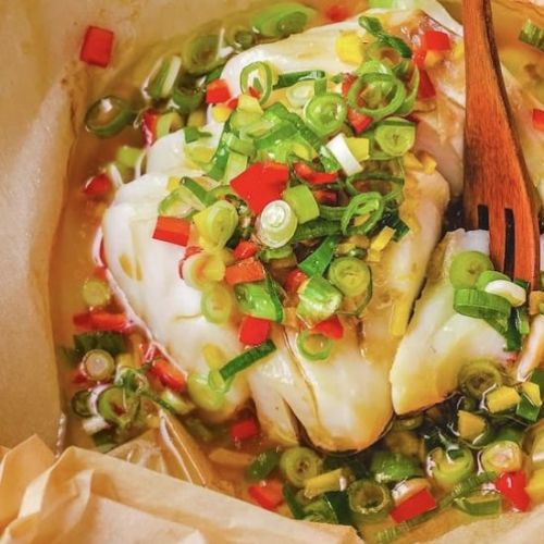 Chinese Steamed Cod Fish Scallion