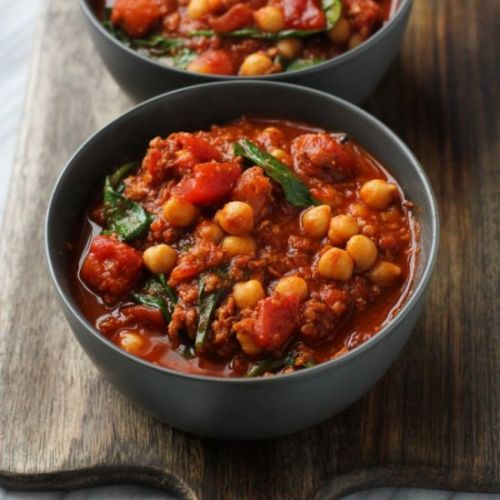 "Vegan ""Chorizo"" and Chickpea Stew"