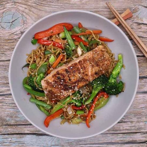 Salmon with Chilli and Oyster Sauce