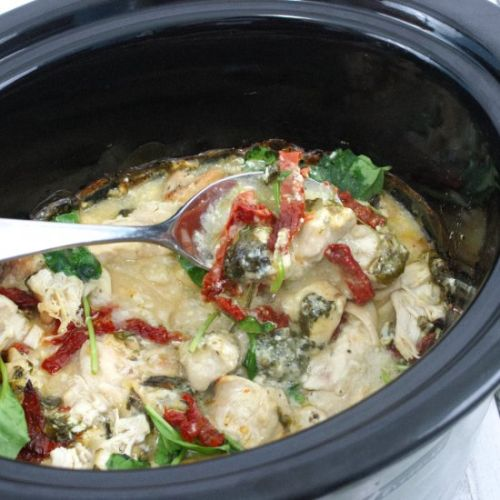 Creamy Slow Cooker Tuscan Chicken