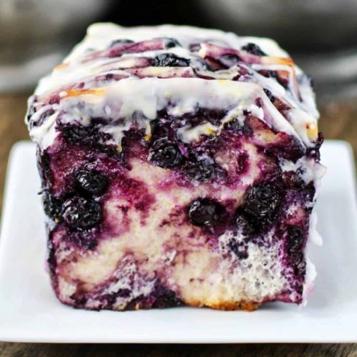 Roasted Blueberry Pull-Apart Loaf