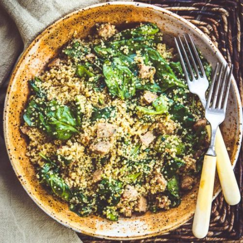 Instant Pot Quinoa Spinach Salad