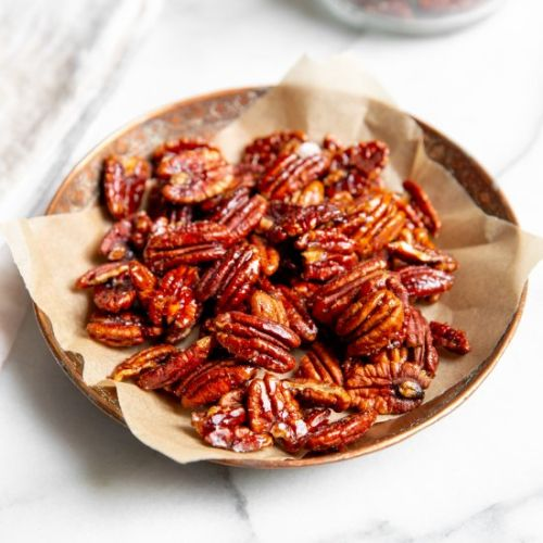 Easy Candied Maple Pecans