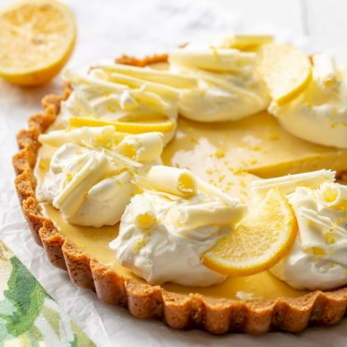 Easy Lemon Pie with white chocolate