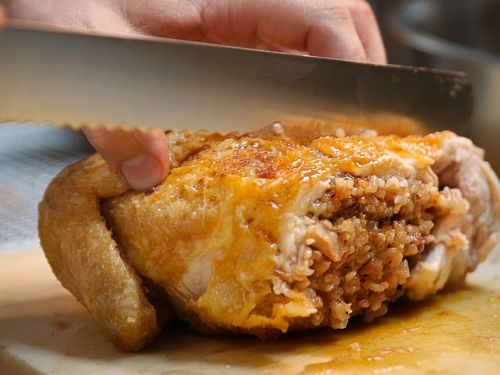 Watch: Experimenting with a Whole Fried Chicken at Two-Star Win Son