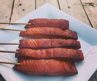 Smoked Salmon on a Stick