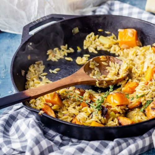 One Pot Orzo with Roasted Butternut