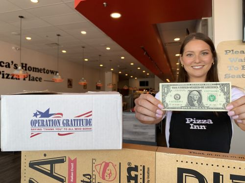 Pizza Inn Hosts Donation Drive for National Military Appreciation Month