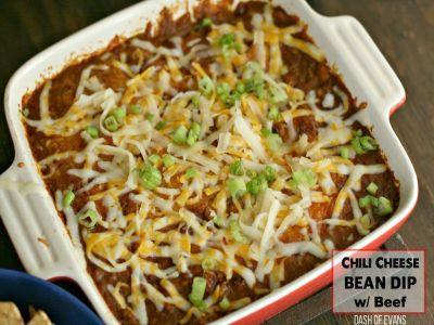Chili Cheese Bean Dip for a Party - Recipes - Food Drink Buzz