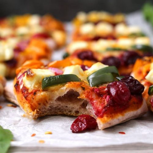 Mini Pizzas With Cranberry Crust
