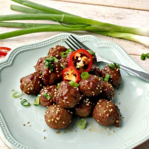 Sticky Teriyaki Meatballs