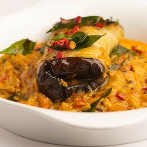 Eggplant Stuffed With Curry
