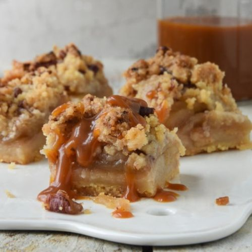 Apple pie with nuts