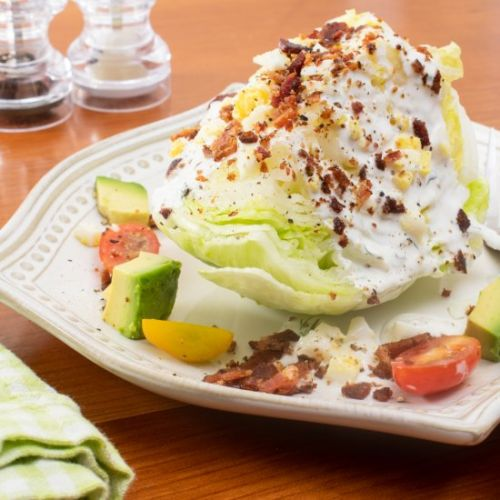 Loaded Wedge Salad with Herb Butter