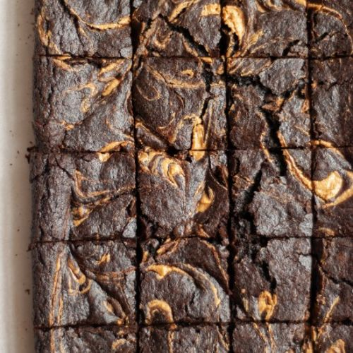 Peanut Butter Olive Oil Brownies