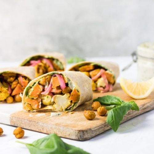 Roasted Curry Veggie Wrap