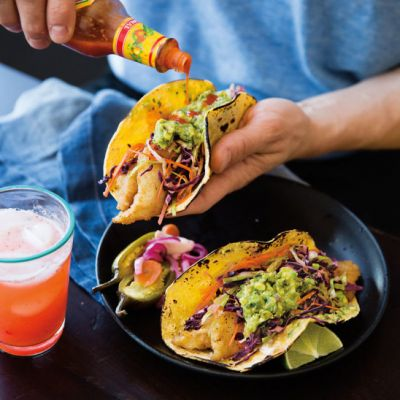 Baja style beer battered fish tacos recipes food drink for Fish taco batter recipe