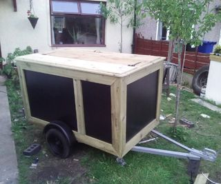 Pop up catering trailer