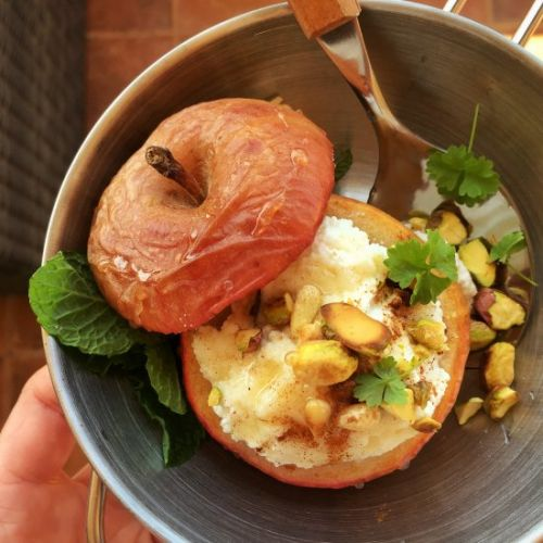 Baked Apple with Ricotta & Honey