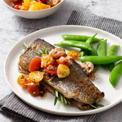Rainbow Trout with Cherry Tomatoes