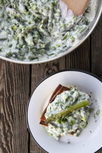 Creamed Peas with Asparagus