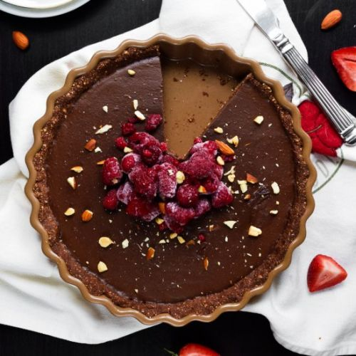 No Bake Vegan Chocolate Tart