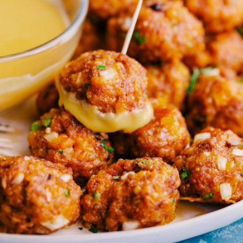 SPICY SAUSAGE CHEESE BALLS