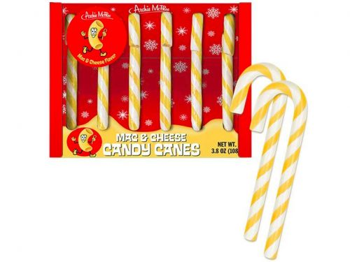 Mac-and-Cheese Candy Canes Are Here to Make the Yuletide Confusing