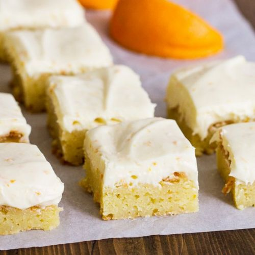 Orange Blondies