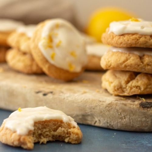 Vegan Lemon Chewy Cookies