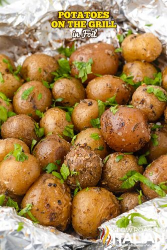 Potatoes On The Grill In Foil