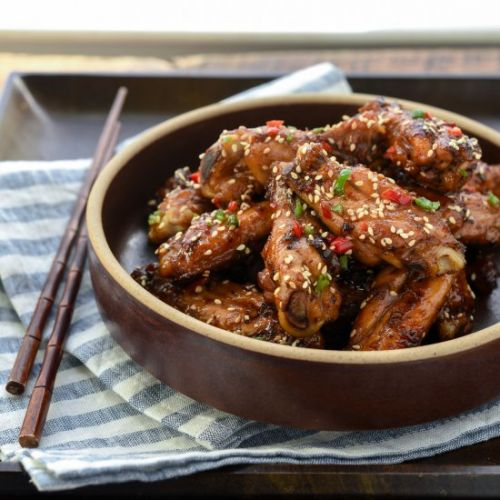 Korean Honey Garlic Chicken Wings
