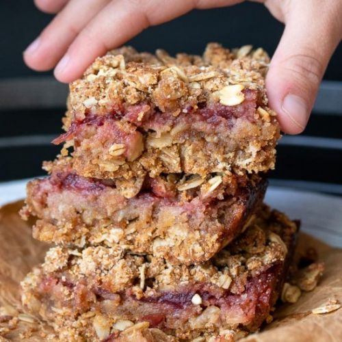 Cranberry Crumble Oatmeal Bars