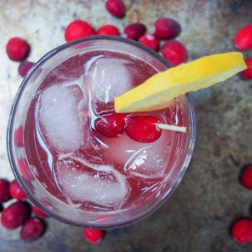 Cranberry whiskey sour