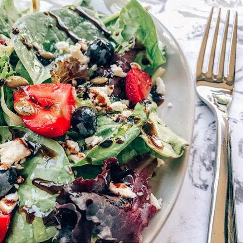 Berry Salad with Lavender Balsamic