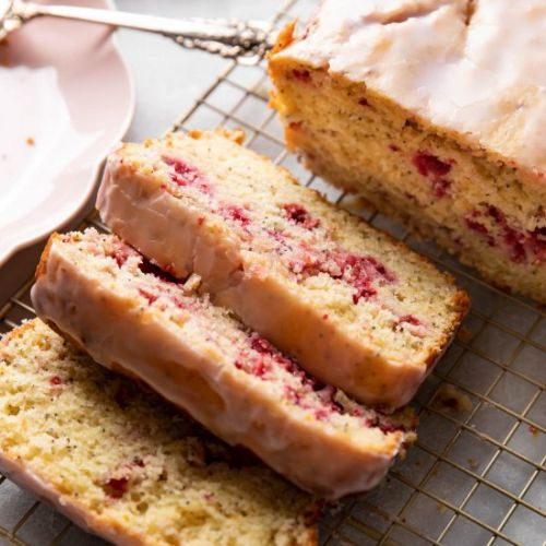 Raspberry Lemon Poppyseed Loaf Cake