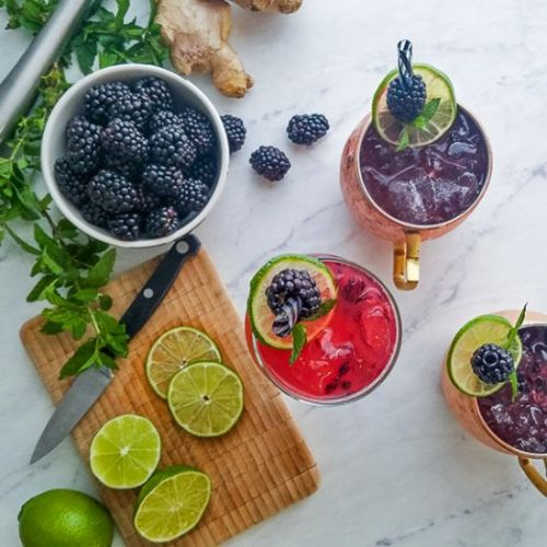 Ginger Blackberry Twisted Mule