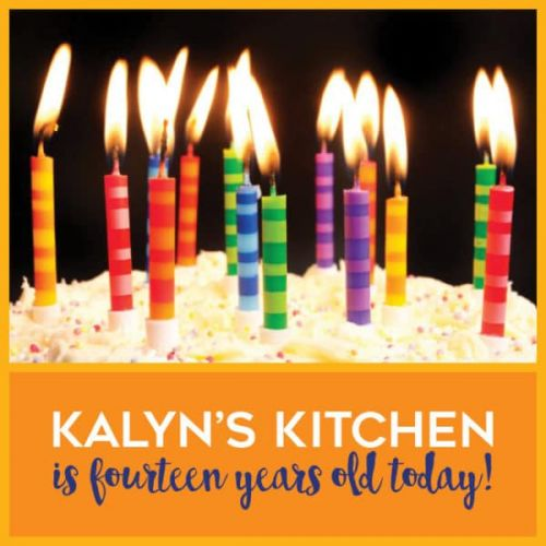 Kalyn's Kitchen Turns 14 Years Old