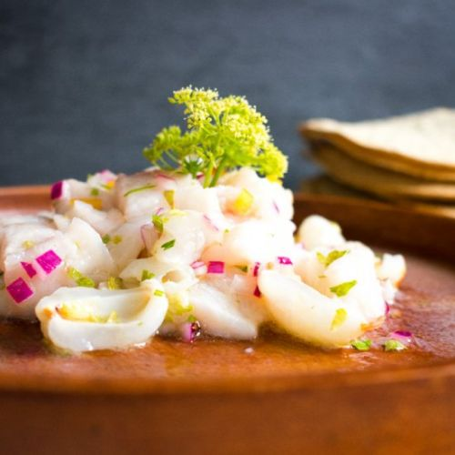 Lychee snapper ceviche