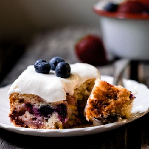 Gluten Free Red White and Blue Cake