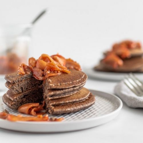 Buckwheat Pancakes & Apple Compote
