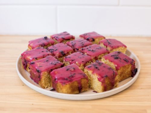 A Blueberry-Glazed Cornbread Cake That Proves the Side Dish Can Be Dessert