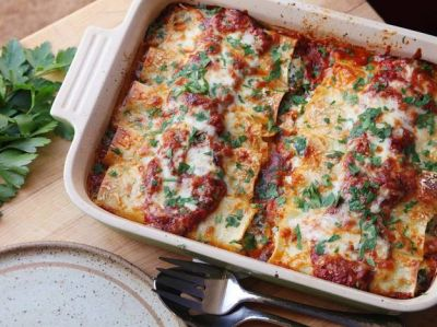 Spinach and Ricotta Manicotti - Recipes - Food Drink Buzz